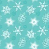 seamless snowflakes Fotografering för Bildbyråer