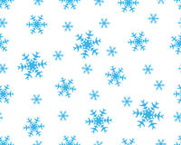 Seamless snowflakes stock photography