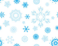 Seamless snowflakes royalty free stock photography