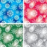Seamless snowflakes backgro Stock Images