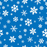 Seamless snowflakes backgroun Royalty Free Stock Photos