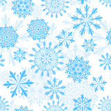 Seamless snowflakes background royalty free stock images