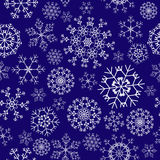 Seamless snowflakes background Stock Photos