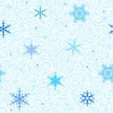 Seamless Snowflakes   background. Royalty Free Stock Photos