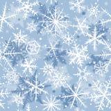 Seamless snowflakes Stock Images
