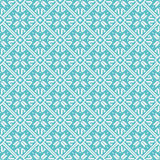Seamless snowflakes background geometric pattern Stock Photos