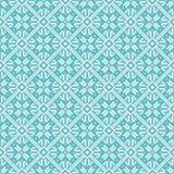 Seamless snowflakes background geometric pattern Stock Photos