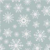 Seamless snowflakes background. Stock Photo
