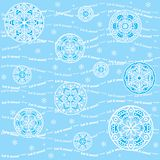 Seamless snowflakes background - Let it snow Stock Photos