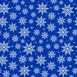 Seamless Snowflakes Background Pattern Royalty Free Stock Photography