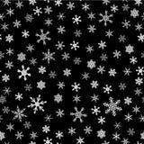 Seamless snowflakes background Stock Image