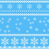 Seamless snowflakes background in rows and scattered. Royalty Free Stock Image