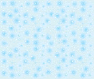 Seamless snowflakes background with stars Royalty Free Stock Photography