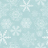 Seamless Snowflakes Background. Vector Royalty Free Stock Photos