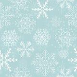 Seamless Snowflakes Background. Vector Royalty Free Stock Photos