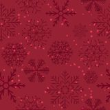 Seamless Snowflakes Background. Vector Stock Photography