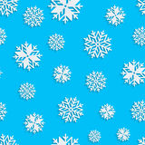 Seamless snowflakes background for winter, christmas theme and holiday cards Stock Photography