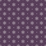 Seamless snowflakes background for winter and christmas theme Royalty Free Stock Photos