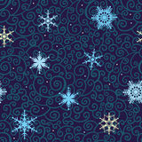 Seamless Snowflakes   background. Winter snowflakes background. New Year Vector pattern Stock Images