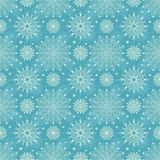 Seamless snowflakes christmas background. Royalty Free Stock Image