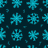 Seamless snowflakes and curls Stock Photography