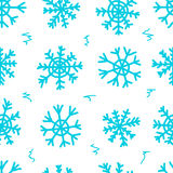 Seamless snowflakes and curls white Stock Images