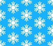 seamless snowflakes för bakgrundsmodell Vektorillustration med snöflingor Arkivfoto
