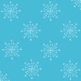 seamless snowflakes för blå modell Royaltyfri Bild
