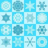 seamless snowflakes för modell Arkivbilder
