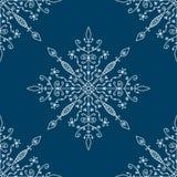 seamless snowflakes för modell Royaltyfri Bild