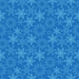 seamless snowflakes för modell Nya år snöar ändlös bakgrund, vintern som upprepar textur Julbakgrund vektor stock illustrationer
