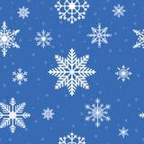 seamless snowflakes för modell För vinterferie för jul och för nytt år bakgrund vektor Royaltyfri Foto