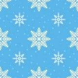 seamless snowflakes för modell För vinterferie för nytt år och julbakgrund vektor Arkivfoto