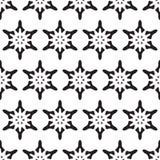seamless snowflakes f?r modell julen dekorerar nya home id?er f?r garnering till Vektormonokrombakgrund stock illustrationer