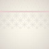Seamless snowflakes lace and decoration ribbon background. Stock Photos