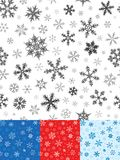 Seamless Snowflakes Pattern Stock Photos