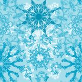 Seamless snowflakes pattern,  Royalty Free Stock Images