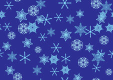 Seamless snowflakes pattern Royalty Free Stock Photos