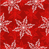 Seamless snowflakes pattern Stock Image