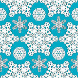 Seamless Snowflakes pattern Background for Christmas and New year. Vector Illustration.  Royalty Free Stock Images