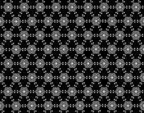 Seamless snowflakes pattern on background. Christmas seamless pattern from white snowflakes on black background Stock Photography