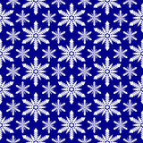 Seamless snowflakes pattern Royalty Free Stock Image