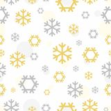 Seamless snowflakes pattern for continuous replicate. Stock Photos