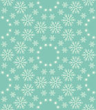Seamless snowflakes pattern. Editable vector background Stock Photography