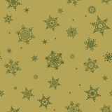 Seamless Snowflakes pattern. EPS 10 Stock Photography