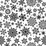 Seamless Snowflakes pattern. EPS 10 Royalty Free Stock Photography