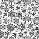 Seamless Snowflakes pattern. EPS 10 Stock Images