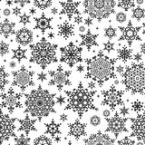 Seamless Snowflakes pattern. EPS 10 Royalty Free Stock Photos