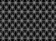 Seamless  snowflakes pattern like firework on background. Christmas seamless pattern from white snowflakes on black background Royalty Free Stock Images