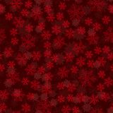 Seamless snowflakes pattern on a red backdrop. Beautiful christmas background. illustration. stock illustration